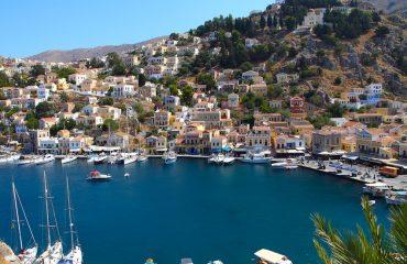 Beautiful view of Symi island